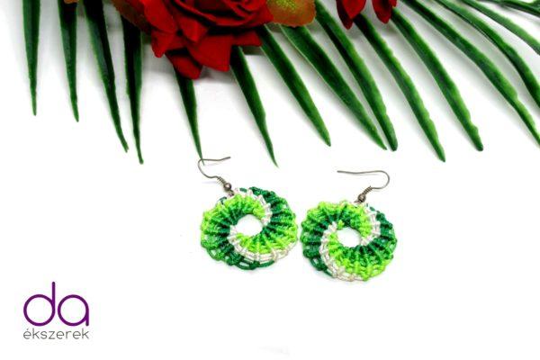 Zöld örvény fülbevaló