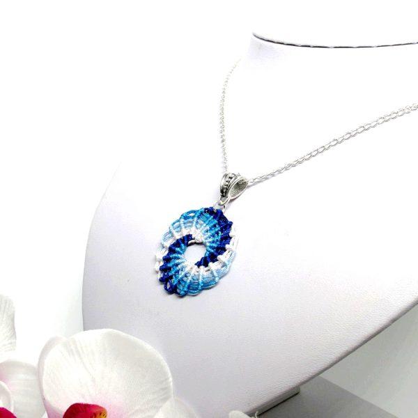 Örvény nyaklánc – kék