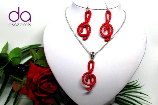 Violinkulcsos szett – piros