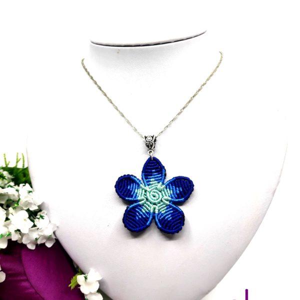 Flora nyaklánc – kék