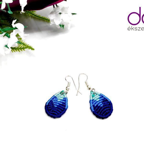 Flora fülbevaló – kék
