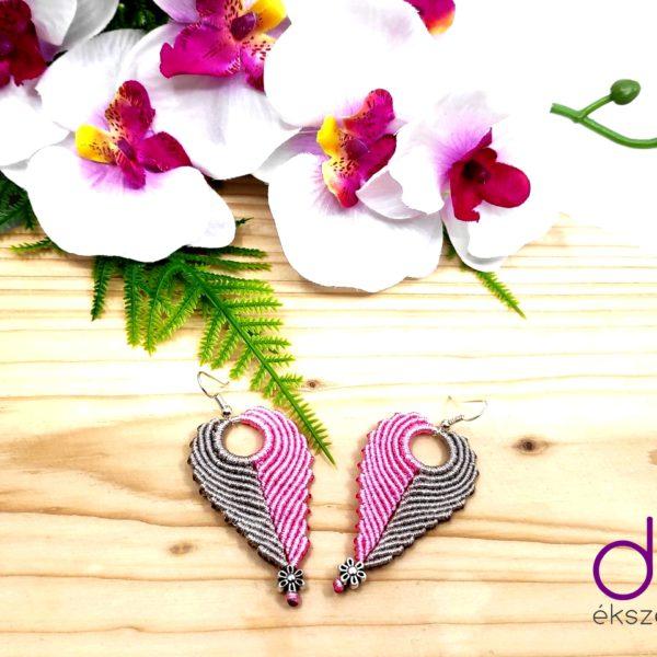 Angel fülbevaló – rózsaszín-pezsgő