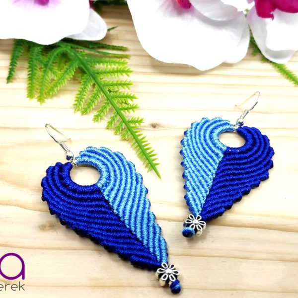 Angel fülbevaló – kék